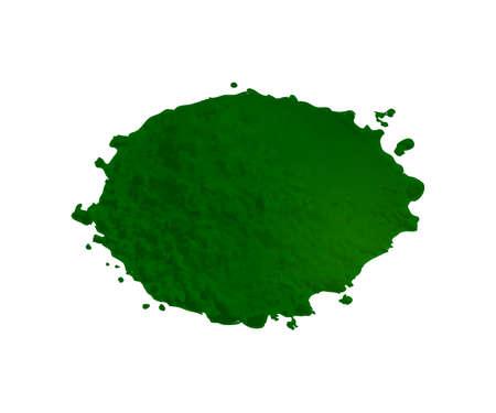 White Powder of Gypsum, Clay or Diatomite Isolated on White Background.
