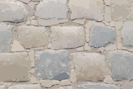 Old Stone Pavement Texture Background Top View. Gray Granite Cobblestone Road Pattern, Vintage Block Sidewalk Mockup, Paved Roadway Wallpaper