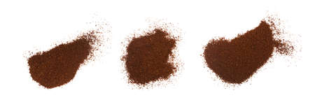 Heap of Fine Grinding Coffee Powder Isolated on the White Background Фото со стока