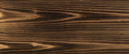 Brown wooden texture background. Old painted wood table surface, desk board plank mockup with copyspace for product montage Stockfoto