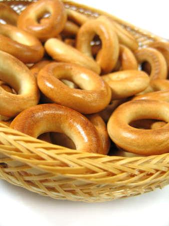 wattled: Ring bagels on wattled plate