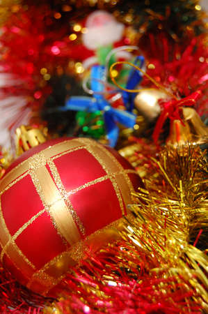 glare: Christmas ball and glare