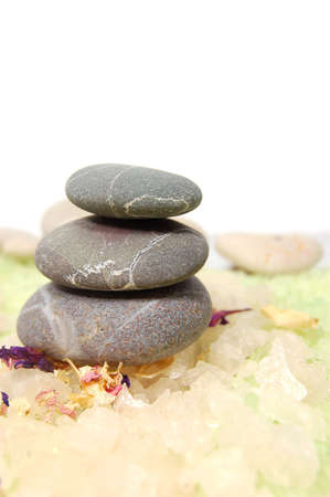 stones, sea salt, aromatherapy Stock Photo - 2929564