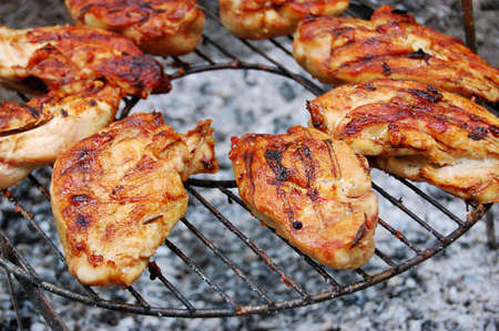 Grilled chicken breast barbeque