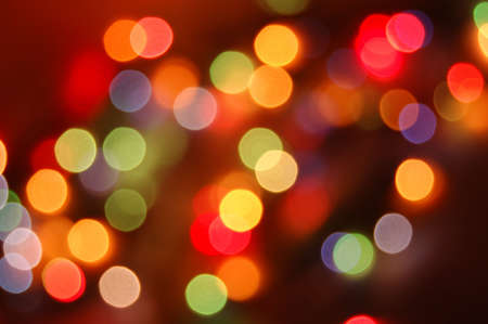 bokeh: colorful abstract holiday lights Stock Photo