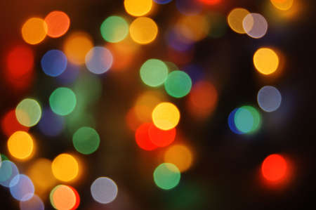 colorful abstract holiday lights background Stock Photo - 3534998