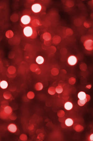 colorful abstract red holiday lights background Stock Photo