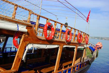 Lifebuoy on a boat in Turkey photo