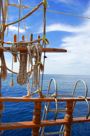 ropes and ships ladder taken at a yatch photo