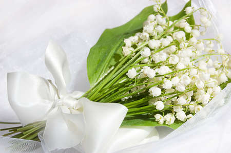 may lily: Wedding lily of the valley bouquet