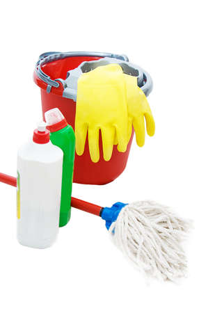 launder: Herramientas de limpieza con cuchara, l�quido y limpiar m�s de blanco