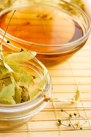 Herbal tea from dry lime-tree flowers Stock Photo - 6168859