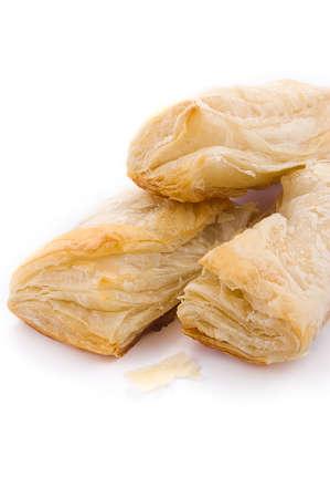 pasteles: Hojaldre con patatas y repollo en blanco