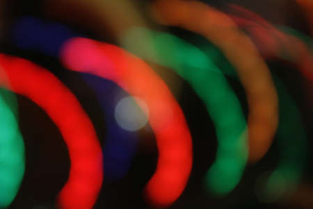 Lights blur motion in semi-circles on black Stock Photo - 24754673