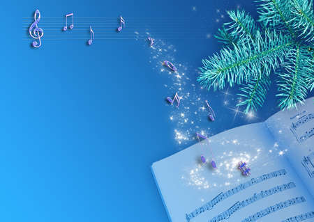 holiday music: Holiday new-year background.