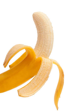 Purified banana against the white background.