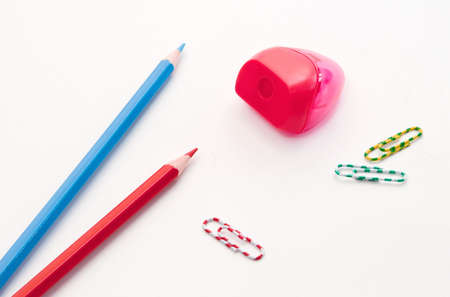 Office tools against the white background.