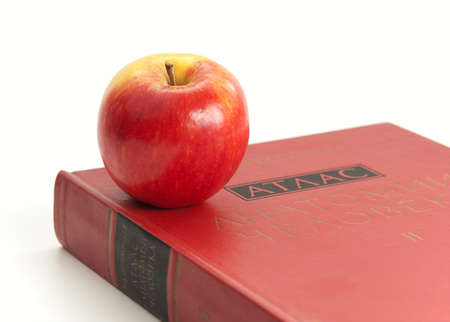 Book on the anatomy of man and the apple.