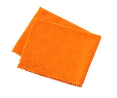 Orange napkin against the white background
