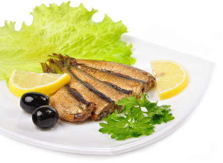 Fish with fresh herbs and lemon.