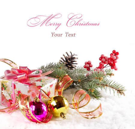 Christmas background with text. Stock Photo