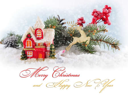 Christmas card with text.