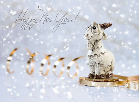 The symbol of the New year-the sheep.