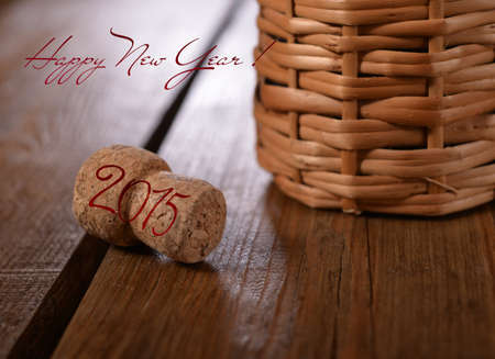 sommeliers: Christmas card with the greeting text. Stock Photo