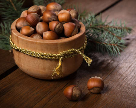 New year background with nuts.