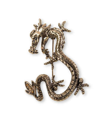 Brooch in the form of a dragon.