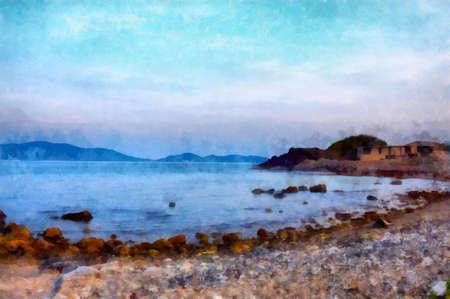 Digital watercolor colorful natural background