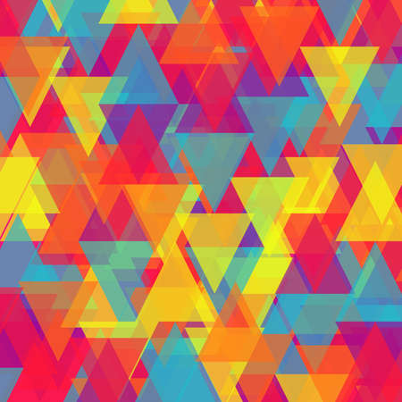 Vector of abstract bright triangle background Illustration
