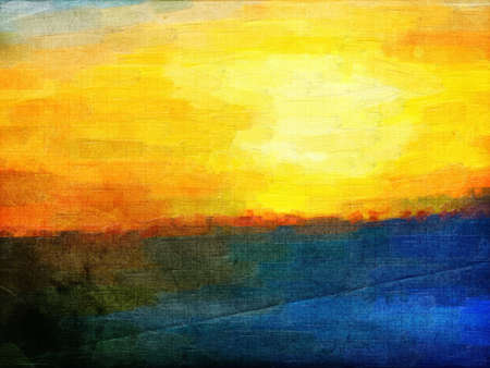 This image was created as digital imitation of oil painting on textured paper