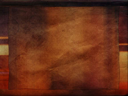Vintage grungy old paper background with frame Stock Photo