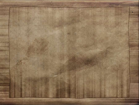 Vintage grungy old paper background with frame photo