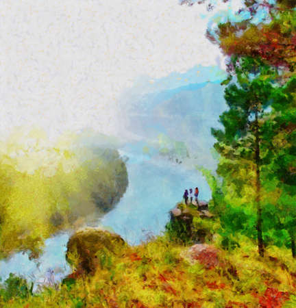 This image was created as digital imitation of painting photo