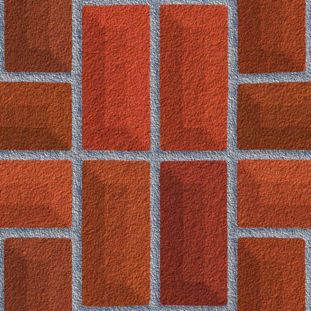 Brick seamless red texture background with raws