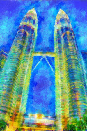 This image was created as digital imitation of painting on textured canvas photo