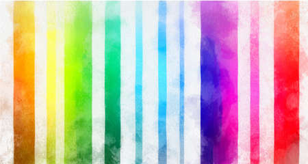 Multicolored lines in vector format as a watercolor painting