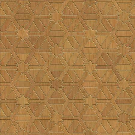 Seamless Wooden striped fiber textured background. Vector.
