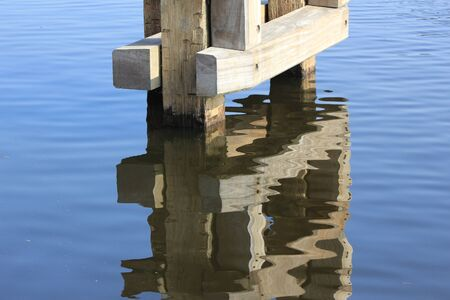 mooring: Mooring mast with reflection