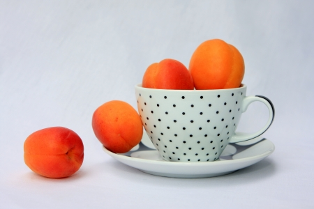 apricots in a cup Stock Photo - 15319881