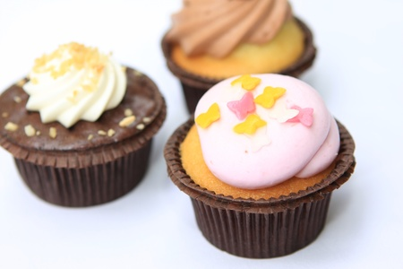 Cupcakes with different toppings Stock Photo - 15630457