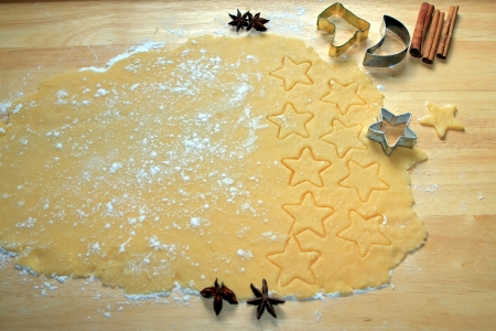 cookie cutters: making Christmas cookies