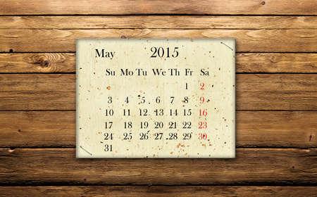 Calendar May 2015 photo