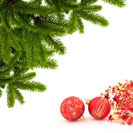 december 25th: fir branch and decorations