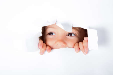 gash: Curious little girl Stock Photo