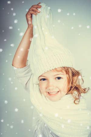 mischievous: mischievous child with hat Stock Photo