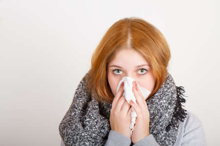 cooled: Teen cooled with handkerchief Stock Photo