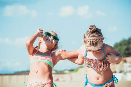 Fun together at the beach